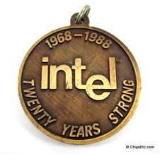 image of an Intel 20th anniversary medallion