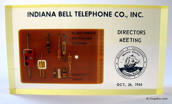Bell telephone transistor paperweight