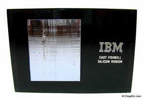 IBM paperweight with a silicon ribbon from east fishkill fab