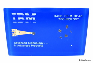 IBM paperweight with a 3370 DASD thin-film disk head for system 38 4331 4341 computers
