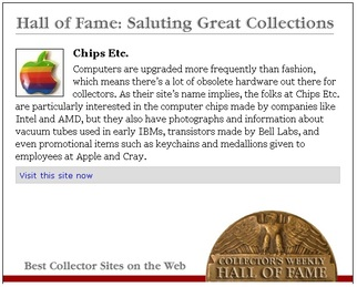 Chips Etc. Collectors Weekly Hall of Fame