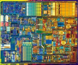 image of an Intel Pentium 4 CPU close-up
