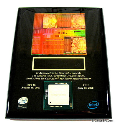 intel chip plaque award