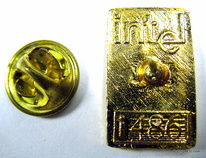 intel 486 chip lapel pin