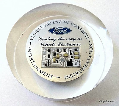 Ford automotive integrated circuit paperweight