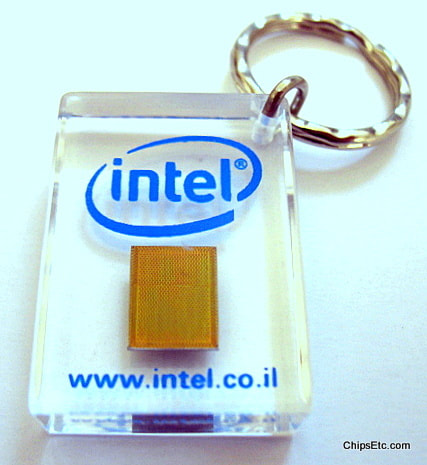 Intel Israel Chip keychain