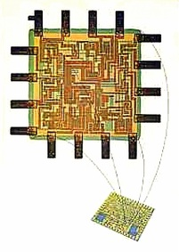 hybrid integrated circuit chip