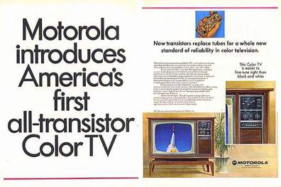 image of Motorola First all transistor TV Ad 1967