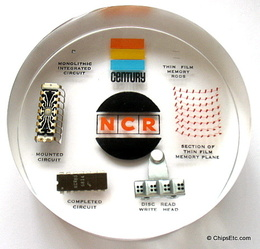 NCR Century Computer paperweight