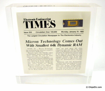Micron DRAM paperweight