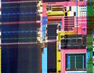 image of an Intel Pentium P5 processor mask circuitry close-up