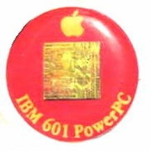image of an IBM Apple 601 powerpc cpu chip