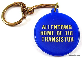 allentown home fo the transistor keychain