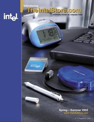 Intel Store merchandise catalog 2003