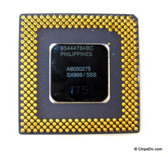 image of an Intel Pentium A80502-75 SX969 processor 75MHz