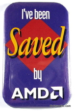 AMD promotional pin
