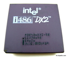 image of an Intel 486 DX2 processor