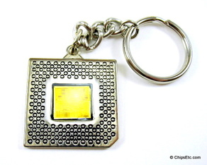 intel keychain with Pentium P54C cpu chip
