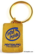 intel keychain with Pentium Pro cpu chip