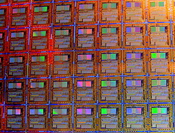 image of intel wafer chips close-up