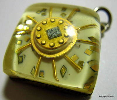Vintage Gold Integrated Circuit