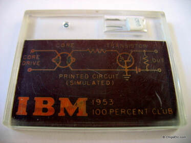 IBM early transistor core memory 1950s